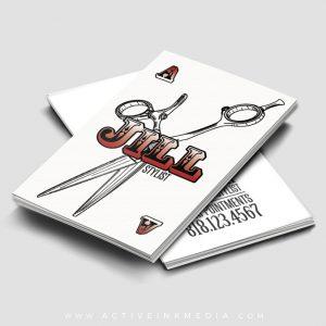 homebarber stylist designs ace card hair stylist salon business card template - Salon Business Cards