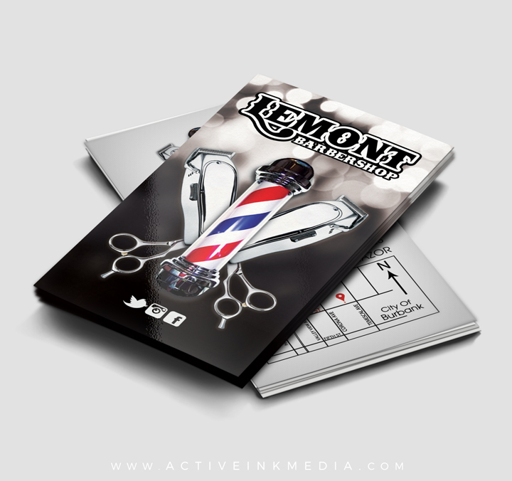 Barber barbershop stylist business card template active ink media barber click to enlarge barber homefeatured designs barber barbershop stylist business card template wajeb Image collections