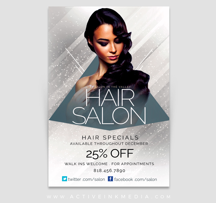 Upscale Hair SalonStylist Flyer Template  Active Ink Media