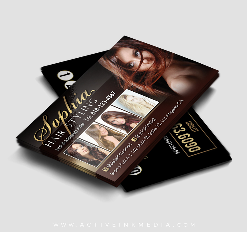 Hair stylist hair dresser business card template active ink media stylist cheaphphosting