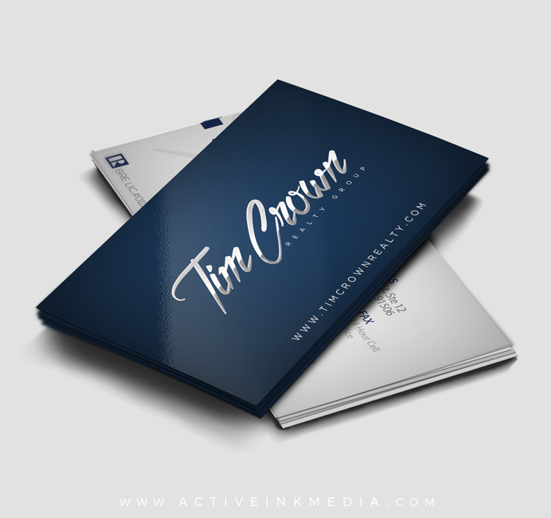 Real Estate / Realtor Blue 2 Business Card | Active Ink Media