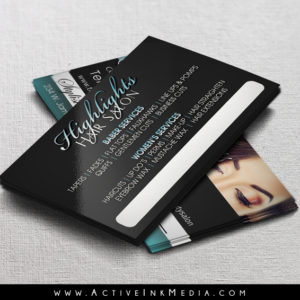 Hair stylist makup artist business card template active ink media homebarber stylist designs hair stylist makup artist business card template reheart Image collections