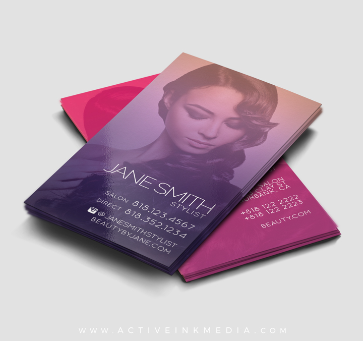 Hair Stylist / Beauty Stylist Business Card Template | Active Ink Media