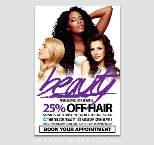 beauty white flyer