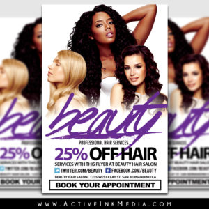 Hair Salon U0026 Beauty Stylist Flyer Template