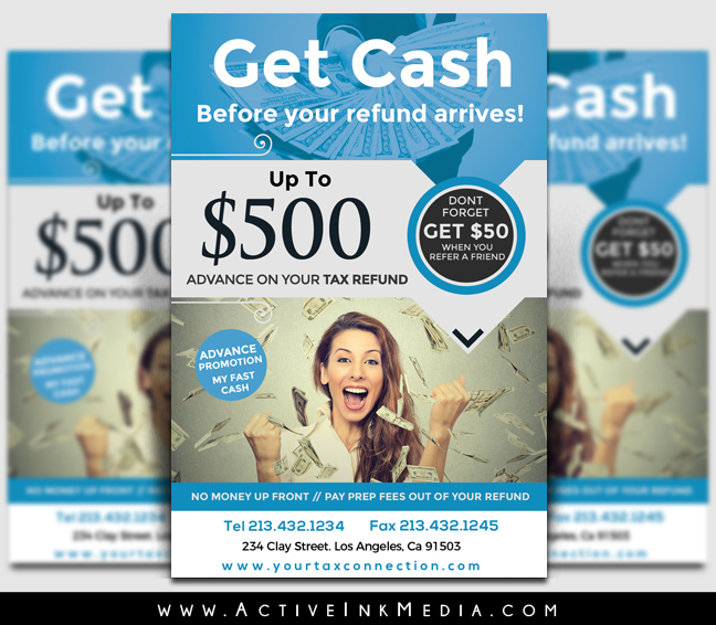 Tax Refund Flyer Template Active Ink Media