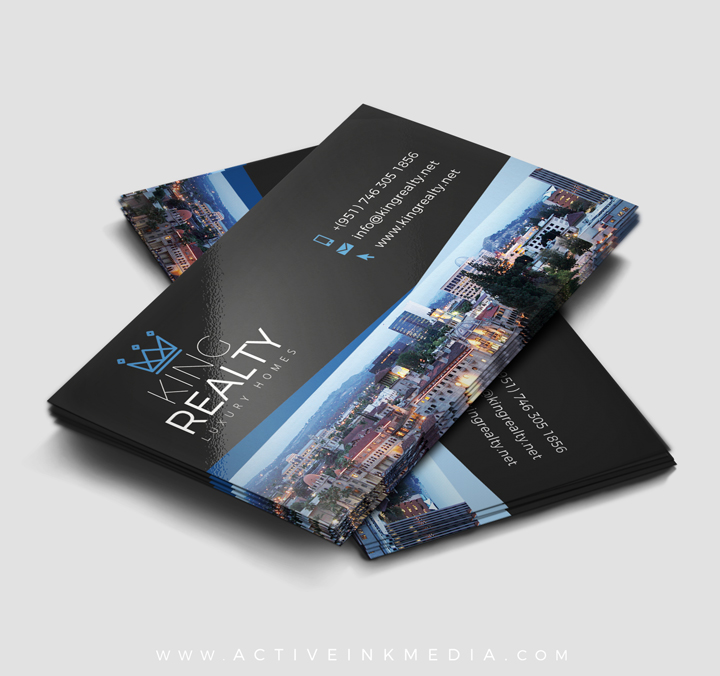 Riverside City Real Estate Business Card Template Active Ink Media - Real estate business card template