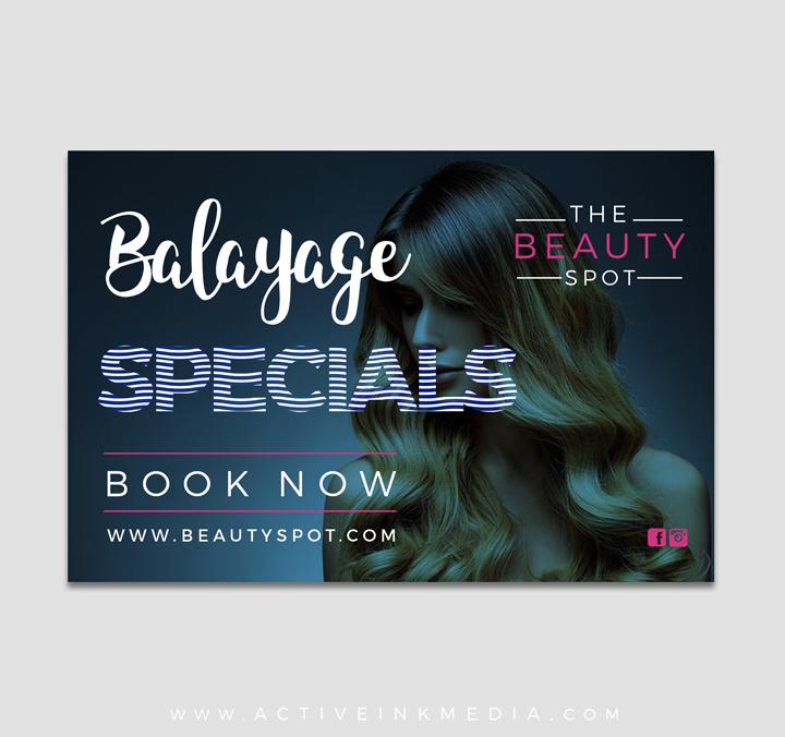 Flyer Postcard Design Templates - Salon brochure templates