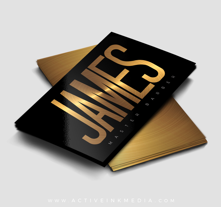Black and gold barber business card template active ink media homebarber stylist designs black and gold barber business card template colourmoves