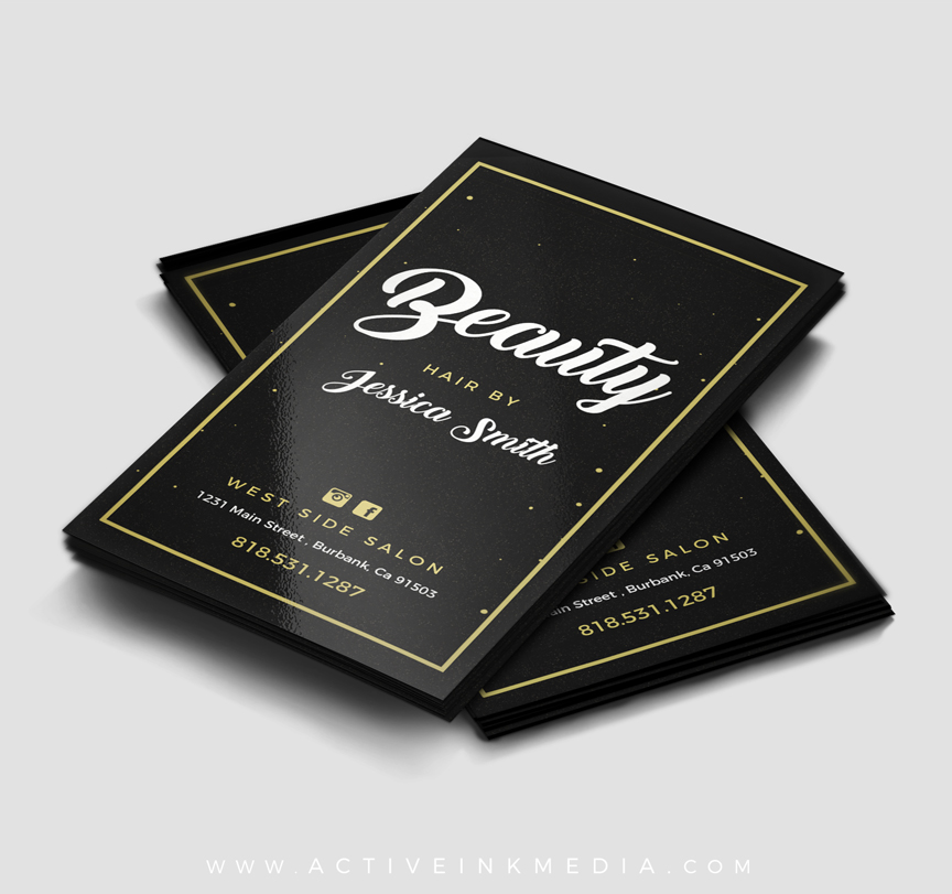 Hair Stylist / Beauty Stylist Business Card Template | Active Ink ...