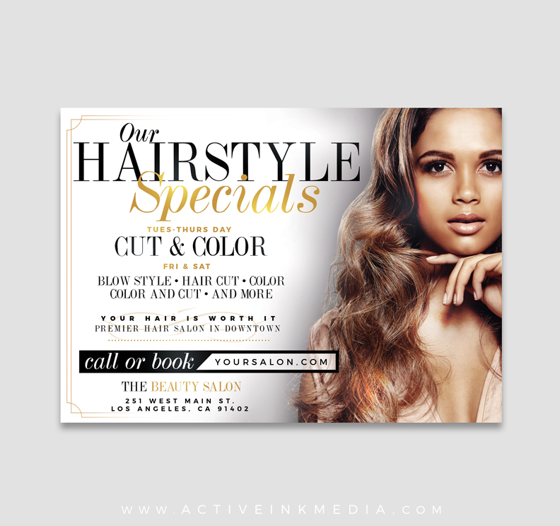Beauty Salon Special Flyer Template Active Ink Media