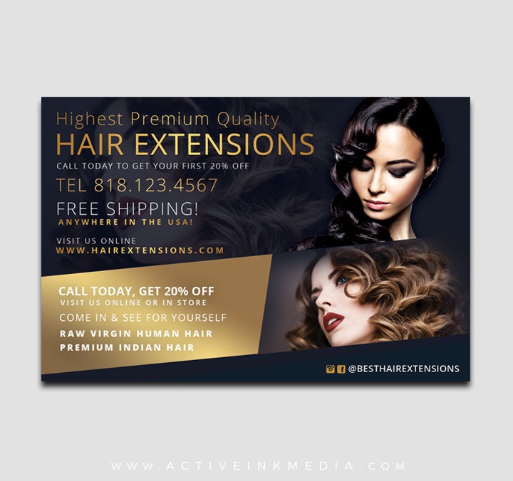 Hair Extensions Hair Stylist Flyer Template Active Ink Media